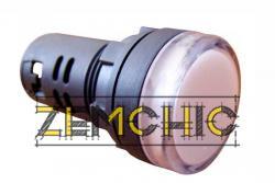 Фото арматуры светосигнальной AD22-22DS белая 220 В DC