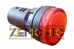 Фото арматуры светосигнальной AD22-22DS красной 220 В DC