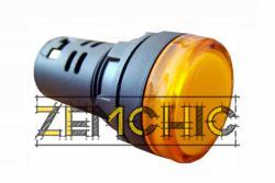 Фото арматуры светосигнальной AD22-22DS желтой 110 В АС