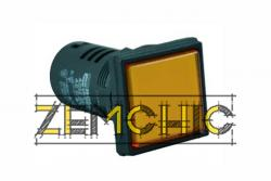 Фото арматуры светосигнальной AD22-22F желтой