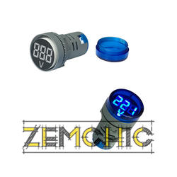 Фото цифрового вольтметра переменного тока + сигнальная лампа