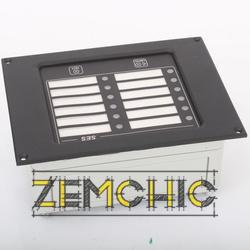 Блок сигнализации типа SES-01 - лицевая панель
