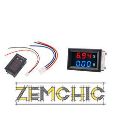 Фото цифрового амперметра-вольтметра DC 0-100V с встроенным шунтом 0-10A