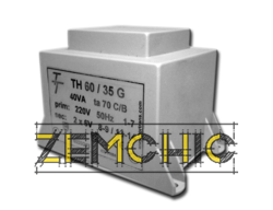 Фото Малогабаритный трансформатор для печатных плат ТН 60/35 G