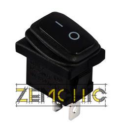Переключатель KCD1-2-101W черный с черной клавишей
