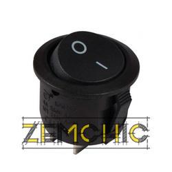 Переключатель KCD1-5-101 черный с круглой черной клавишей