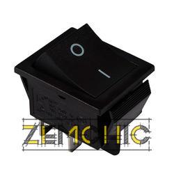 Переключатель KCD2-201 B/B 2-полюсный черный с черной клавишей