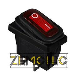 Переключатель KCD3-101W R/B черный с красной клавишей