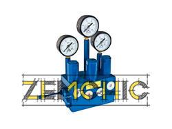 Распределитель для смазочной системы с гидравлическим управлением