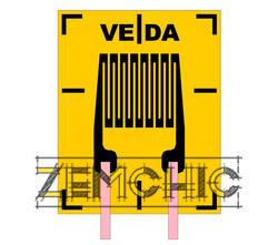 Тензорезистор одиночный прямоугольный П1