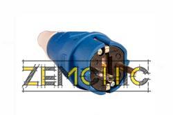 Фото вилки переносной ВП 16А/2 (220В) 2Р+РЕ (012) синей
